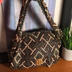 AUTHENTIC TORY BURCH BEADED SHOULDER BAG